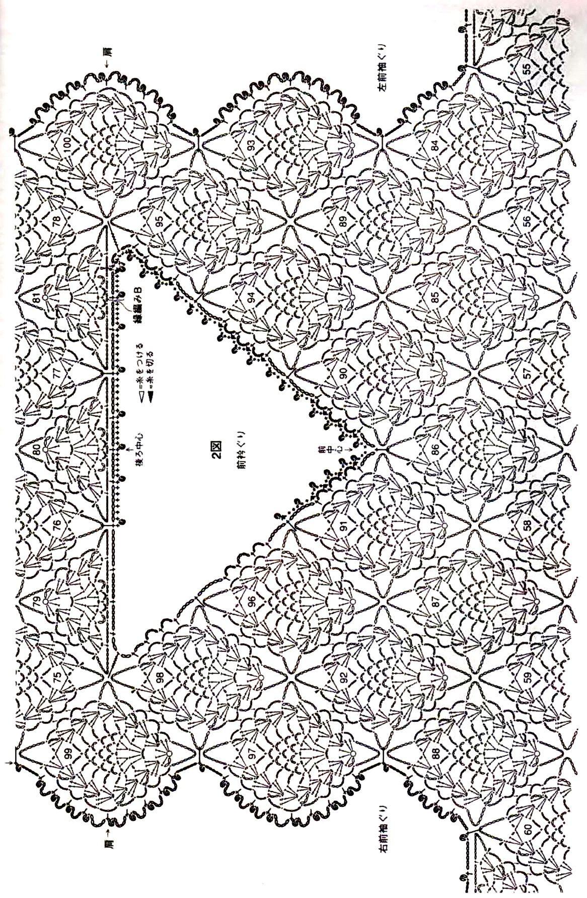 Tığ İşi Çam Kozalağı Şal ve Yelek Modeli