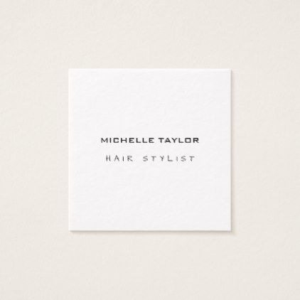 Hair stylist modern minimalist trendy luxury thick square business card reheart Images
