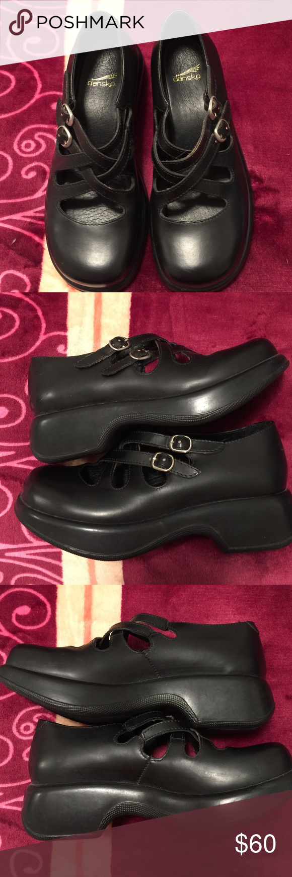 Dansko shoes black Mary Jane style cute size 6 Dansko shoes black size 6 -36 Europe size Dansko Shoes