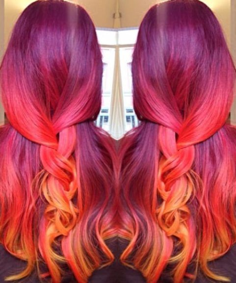 Orange Mermaid Hair