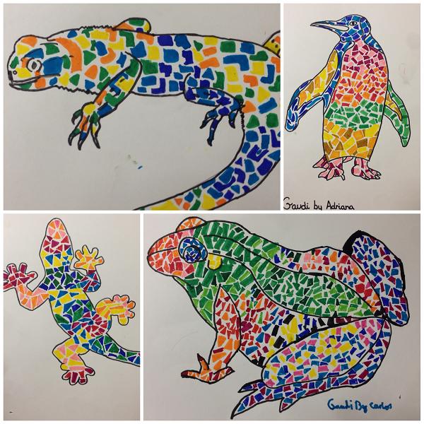 Animales Al Estilo De Gaudi Art Pinterest Kindergarten Art