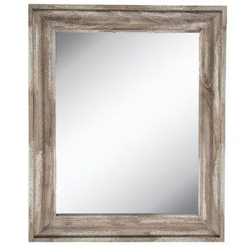 Beveled Wood Mirror Farmhouse Decor Driftwood Mirror