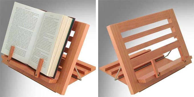 Wooden Reading Rest - http://www.differentdesign.it/2013/04/16/wooden-reading-rest/