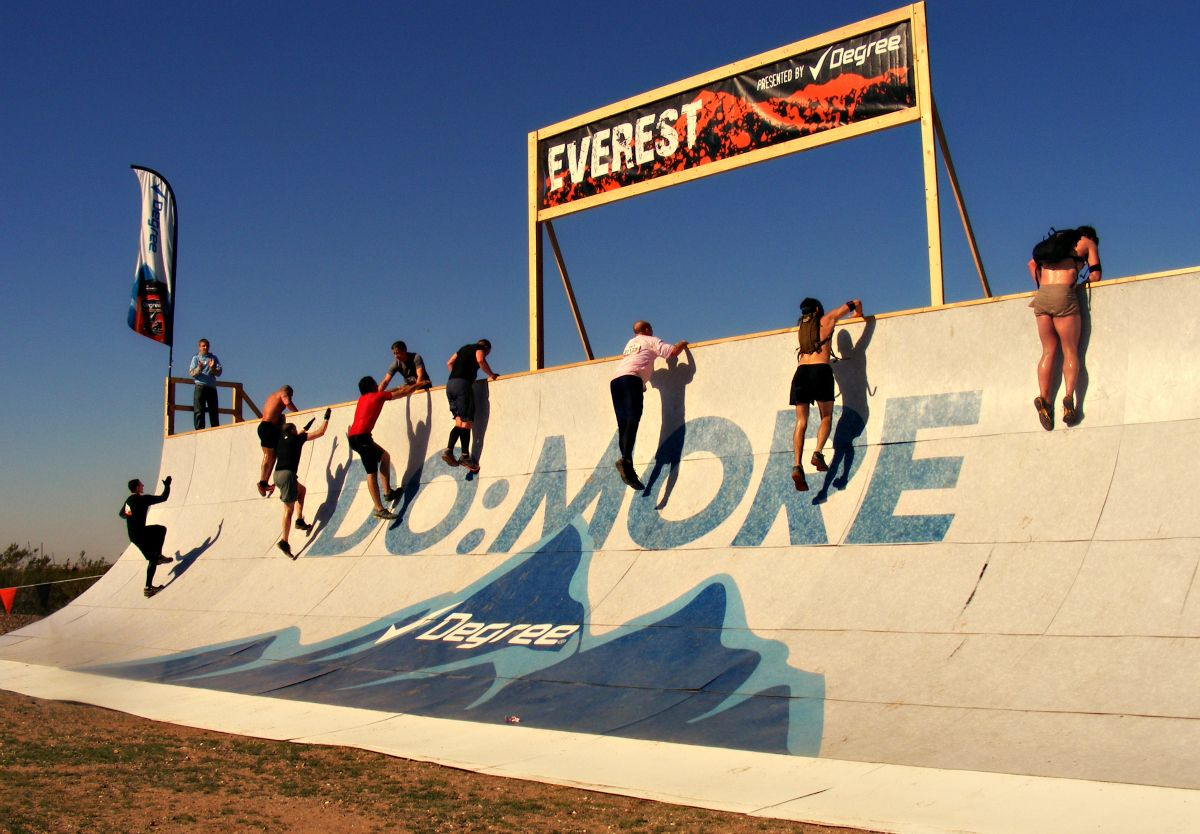 Everest at Tough Mudder in Mesa, Arizona 2013! Probably the toughest event on the planet.