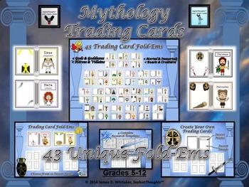 Mythology Greek Roman Trading Card Fold Ems Activity Greek And Roman Mythology Homeschool History Mythology
