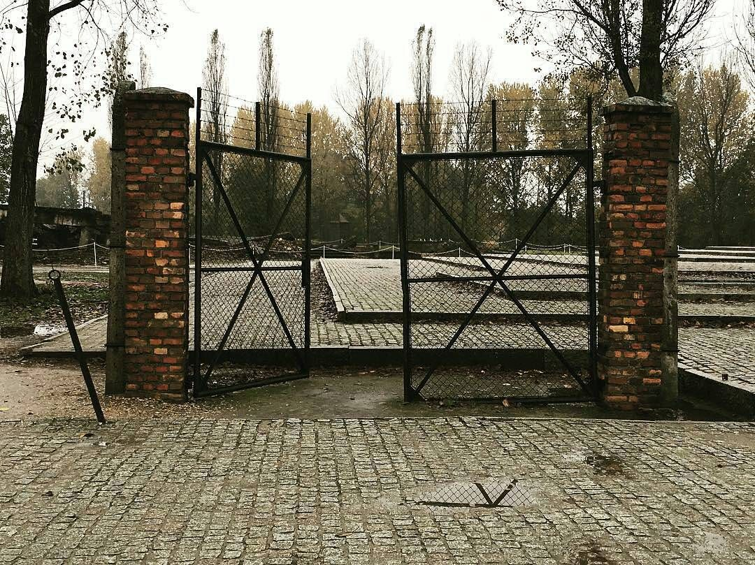 --- Photo by @mpowerss --- Auschwitz II-Birkenau. The gate which led to the yard of gas chamber and crematorium II.