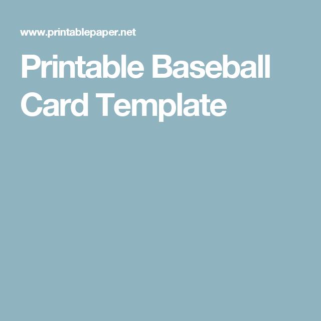 printable baseball card template baseball unit pinterest card