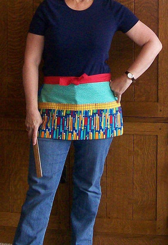 Pencil Classroom Apron  Teacher Tool Belt with Pencil Print