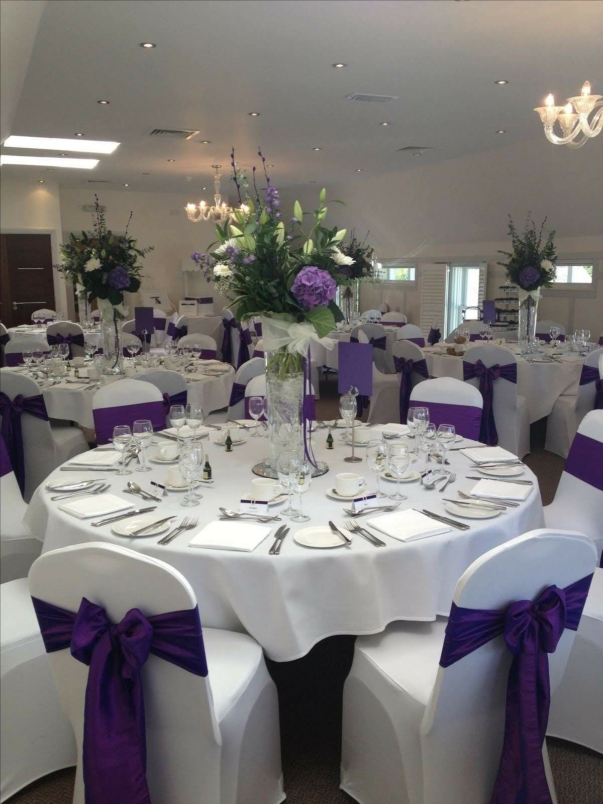 Purple Wedding Receptions Colors Themes Flowers Dresses