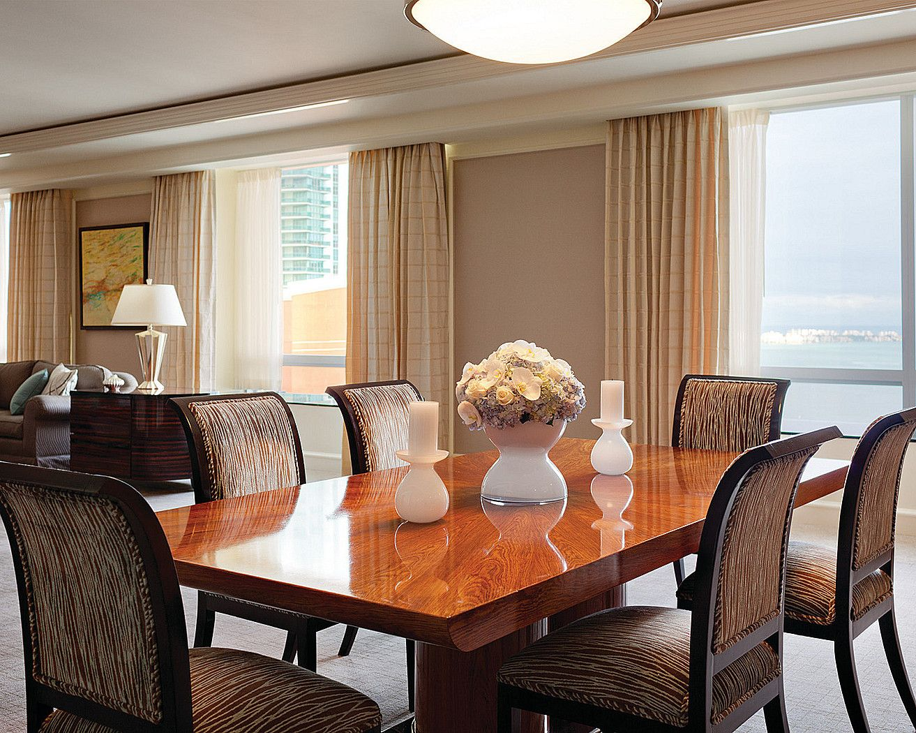 Presidential Suite (dining area) Rustic dining table