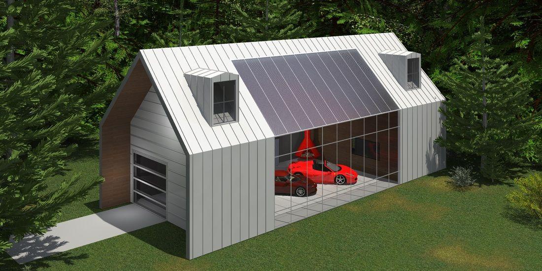 Metron Garages Roof design, Outdoor structures, Design