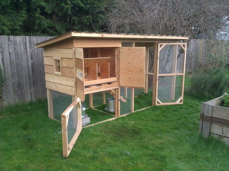 Combo Coop For 6 Chickens Backyard Chicken Coop Plans Diy