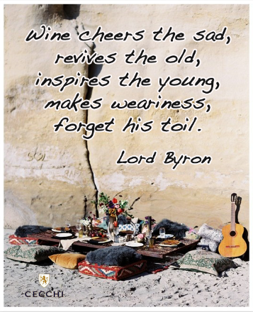 wine quote by Lord Byron