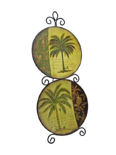Metal Decorative Plate Wall Hanging Palm Tree Motif by Things2Die4 ...