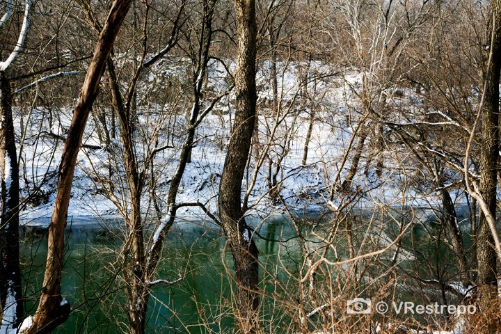 The Potomac River, a frozen world. Photography gallery