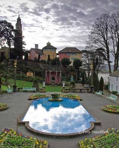 The Village Garden Portmeirion Gwynedd North Wales North Wales Lake District England Gardens Of The World