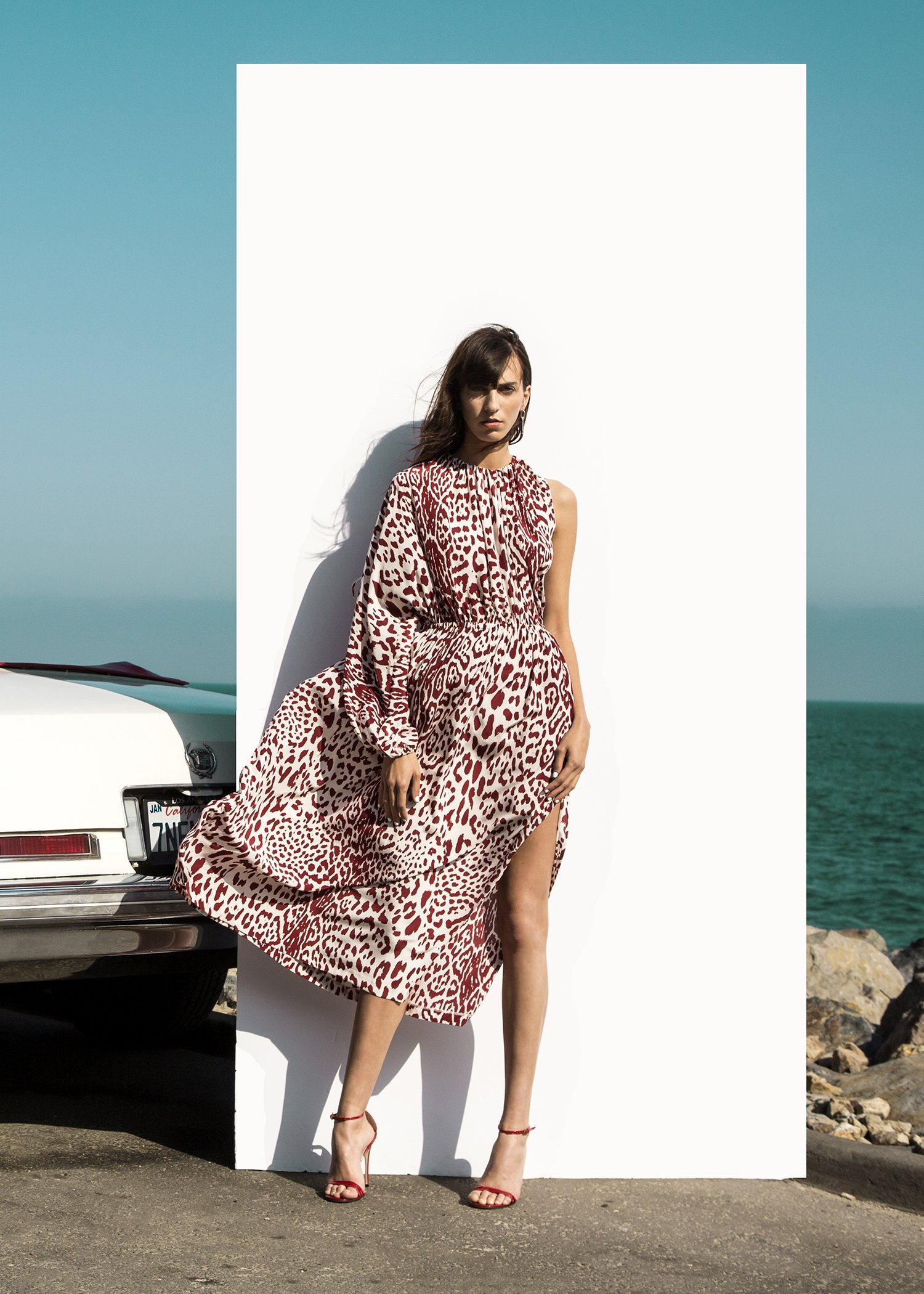 032193ed4937 Robert Rodriguez Studio Women's Fashion Designer Resort 2018 Leopard Print  Silk Dress | #robertrodriguez #leopard
