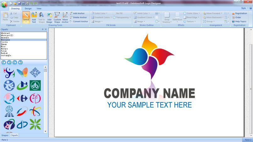 EximiousSoft Logo Designer is the most powerful and easy