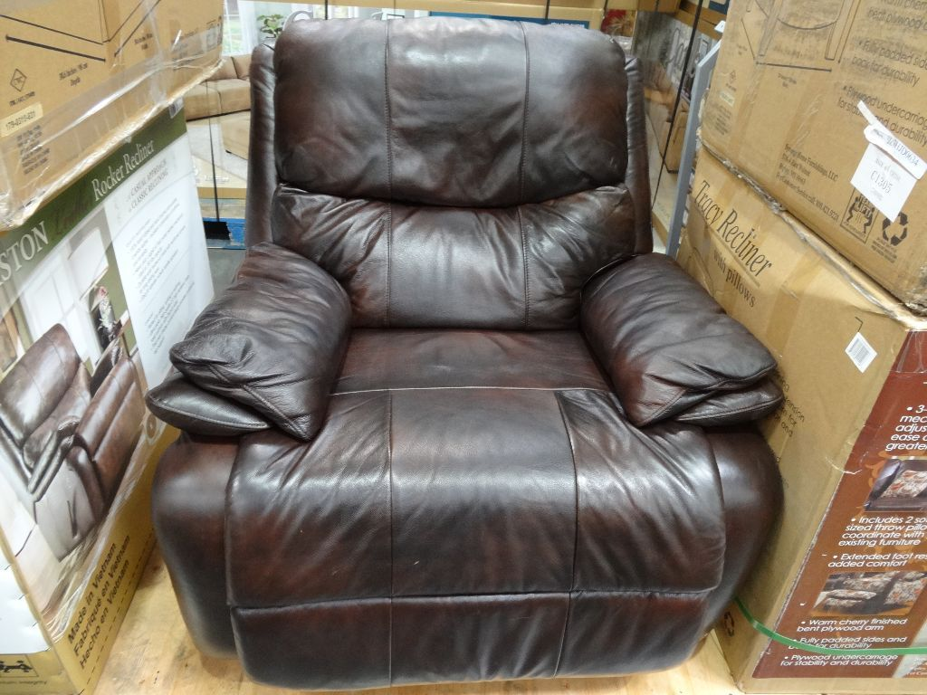 costco leather chairs genuine dining room woodworth easton recliner shopping spree dreams