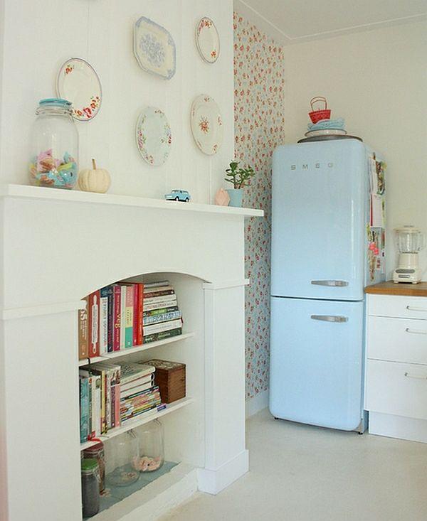 Retro Küche - die neuen, alten Kücheneinrichtung Trends für 2014 - tapeten wohnzimmer ideen 2014