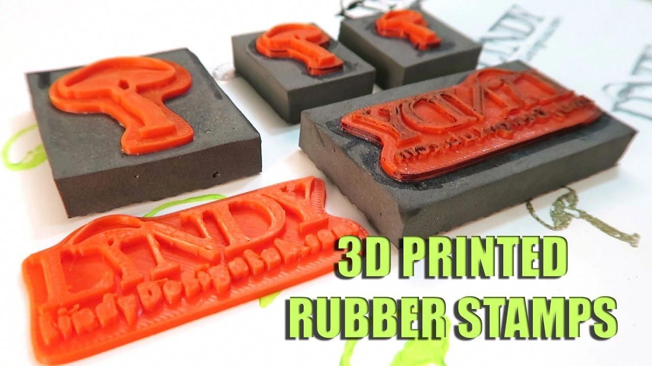 Testing 3D Printed Rubber Stamps
