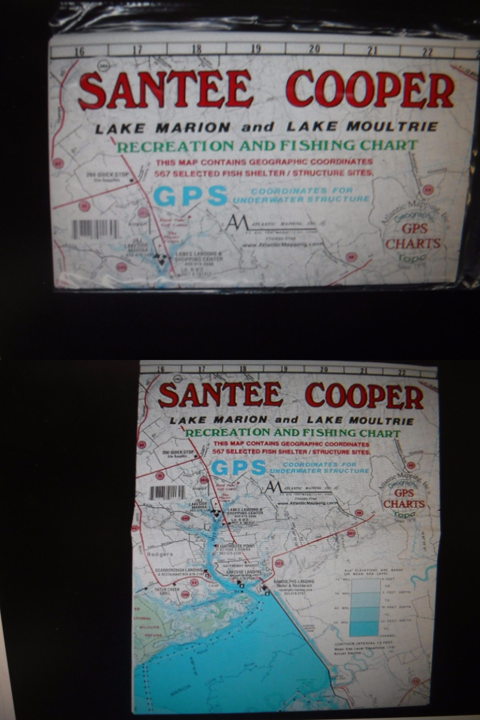 Charts and Maps 179987: Waterproff Map Santee Cooper, Lake Marion ...