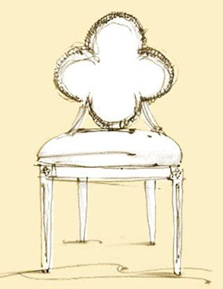 Charmant Suzanne Kasler   Quatrefoil Chair Sketch
