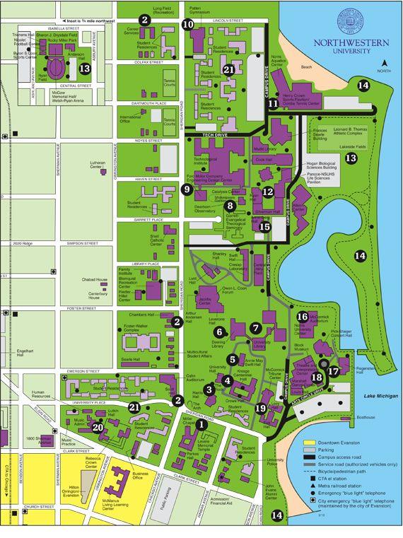 Northwestern Map University Campus Ohio