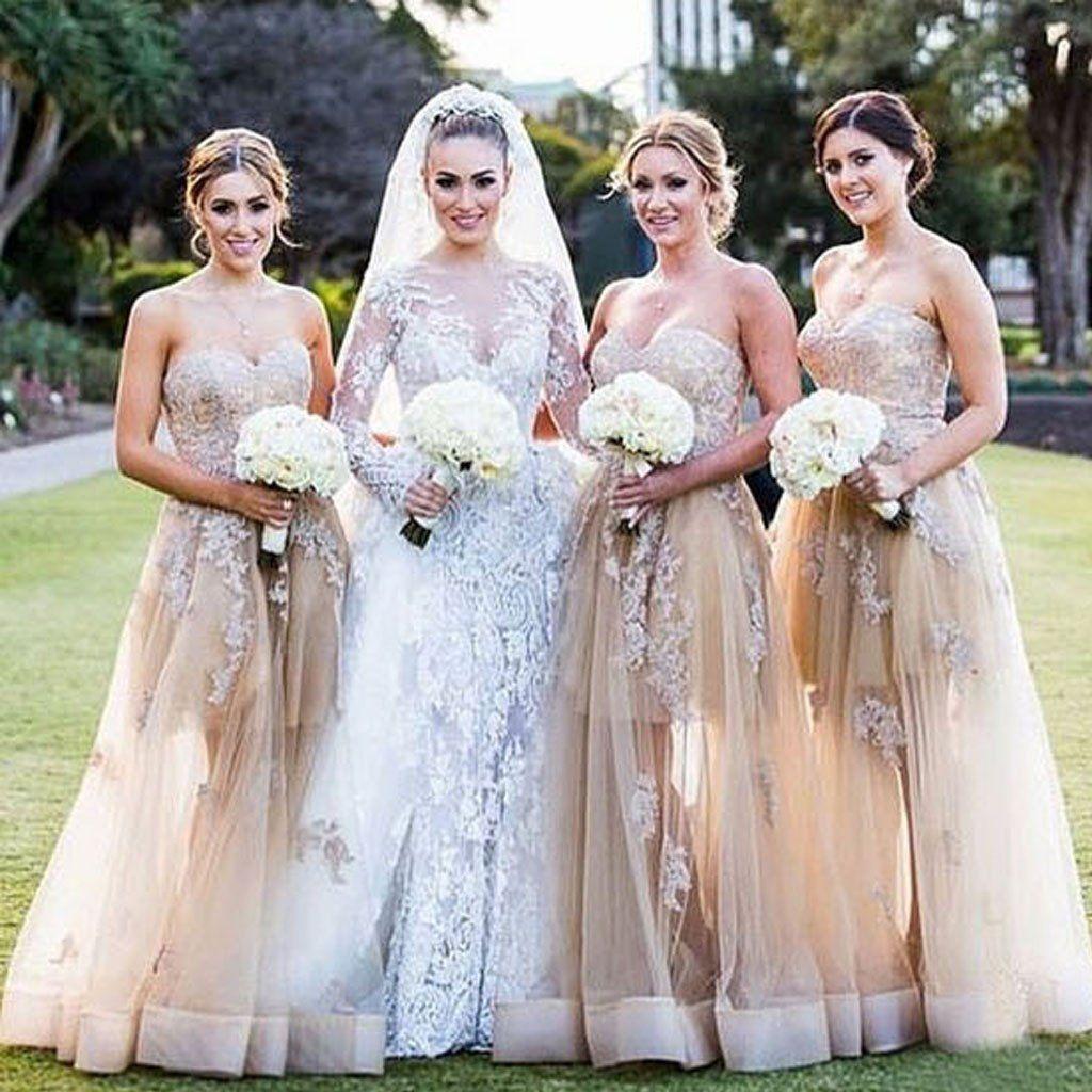2017 Sexy Unique Lace Long Wedding Bridesmaid Dresses, BD0002 ...