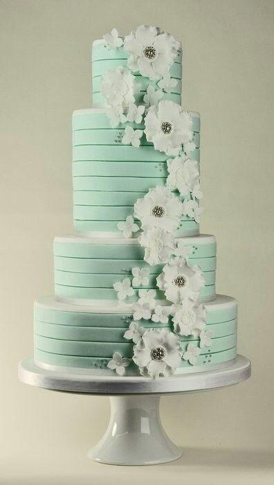 Mint :) my wedding cake!!