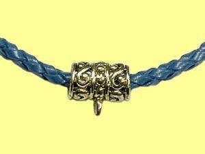 Anhängeröse für Lederbänder, Pewter vergoldetvergoldet