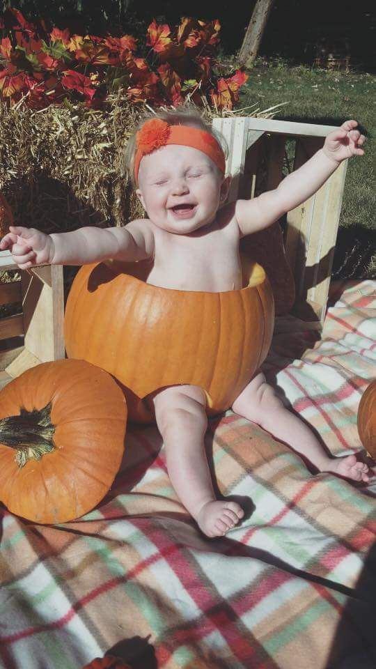 My Sweet baby in a pumpkin \u003c3 Baby Halloween Ideas Pinterest - halloween ideas for 3