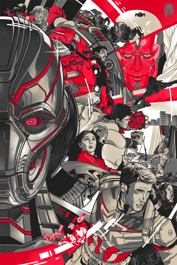 Avengers: Age Of Ultron Official Art Poster print set by ...