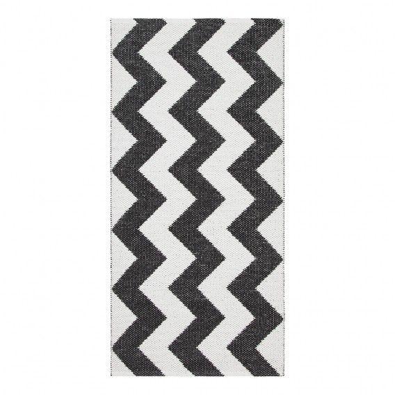 Tapis Mora Fibre Synthetique Noire Blanc Home24 Be At Home