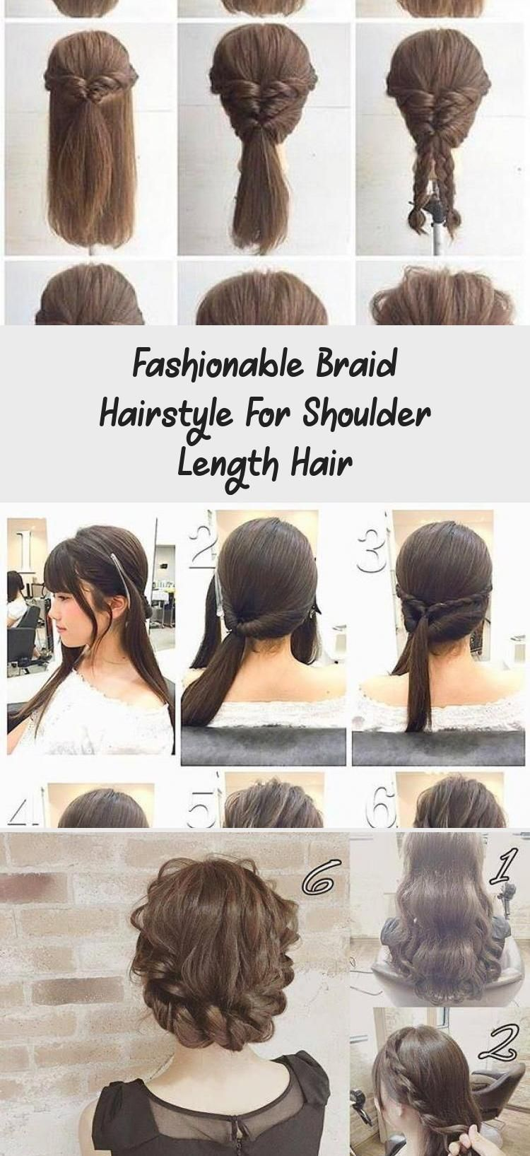 Fashionable Braid Hairstyle For Shoulder Length Hair Blowouthairtutorial Hairt Blowouthairtutorial B In 2020 Shoulder Length Hair Braided Hairstyles Hair Lengths