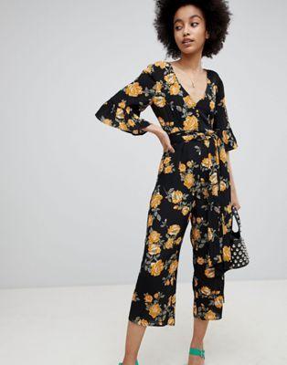 32bf10a5fd Miss Selfridge Floral Print Culotte Jumpsuit