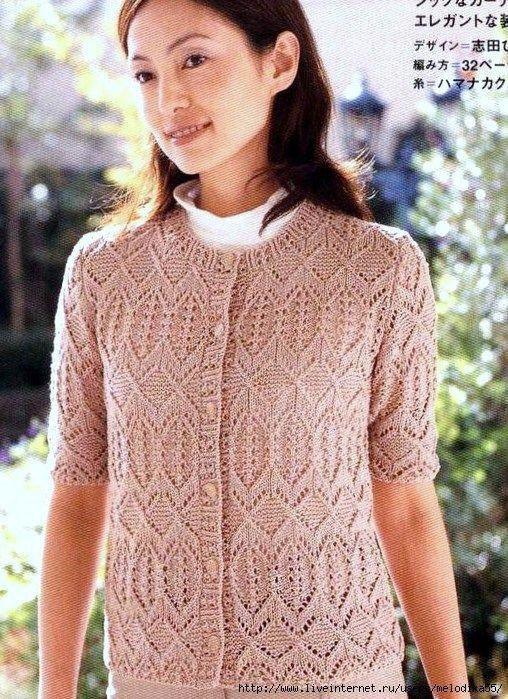 Модели и схемы из японских журналов по вязанию спицами
