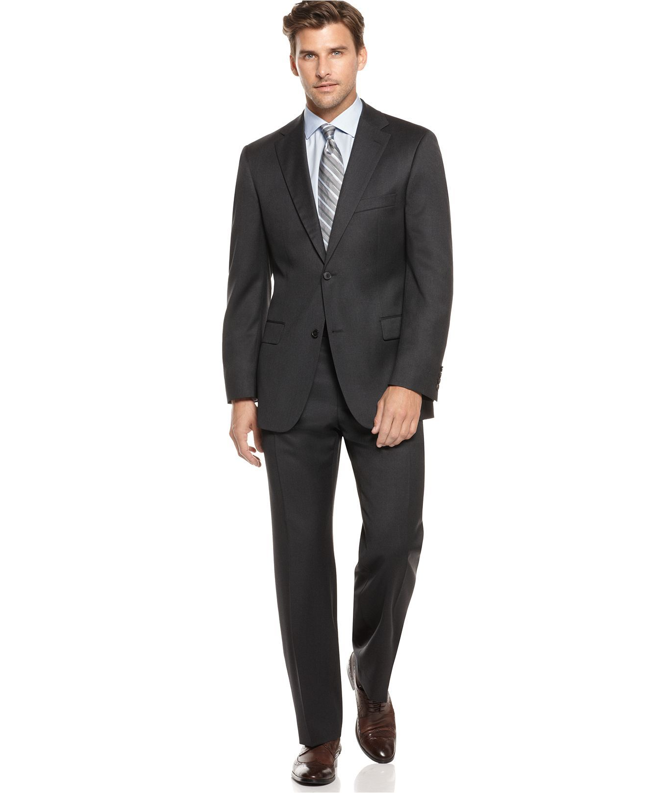 47c65facfee Hugo Boss suit in charcoal grey---Future need for him