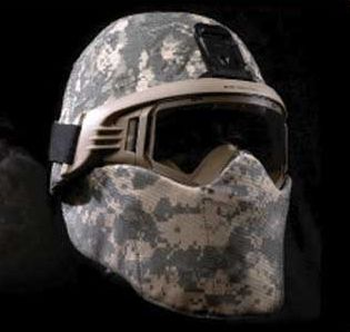 Ballistic Face Shield IIIA for PASGT Style Helmet (Goggles level I for fragmentation)