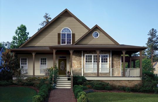 Image Result For House Colors With Clay Trim Windows And Stacked Rock Siding Styles Vinyl Siding Styles House Exterior