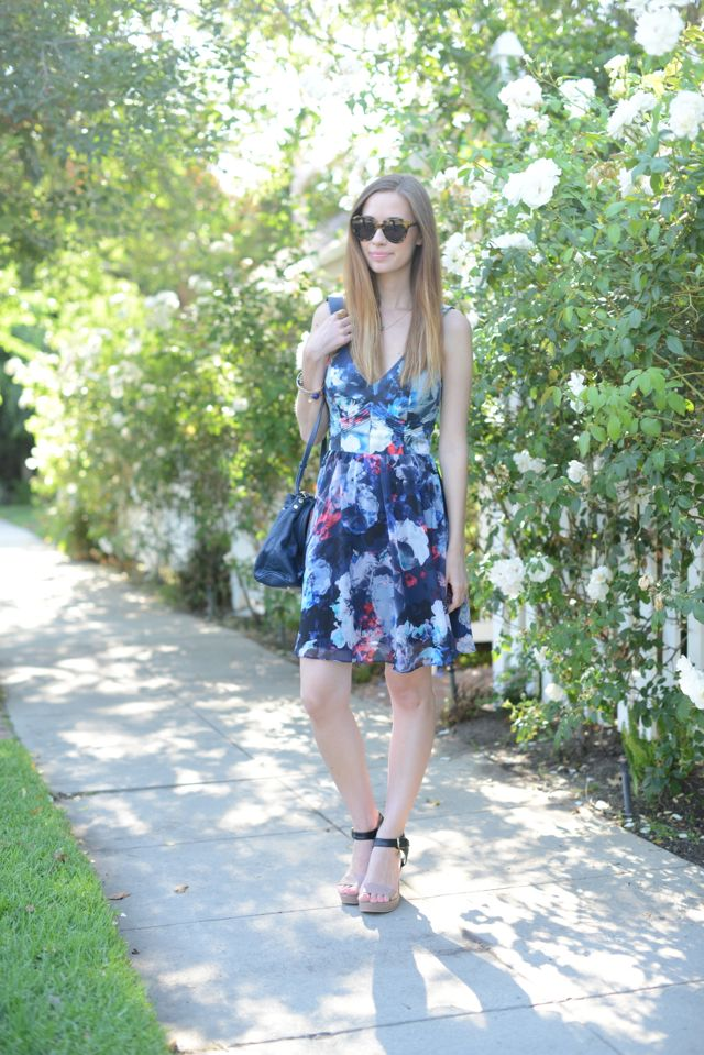 floral fit and flare dress, M Loves M {click through for more photos}