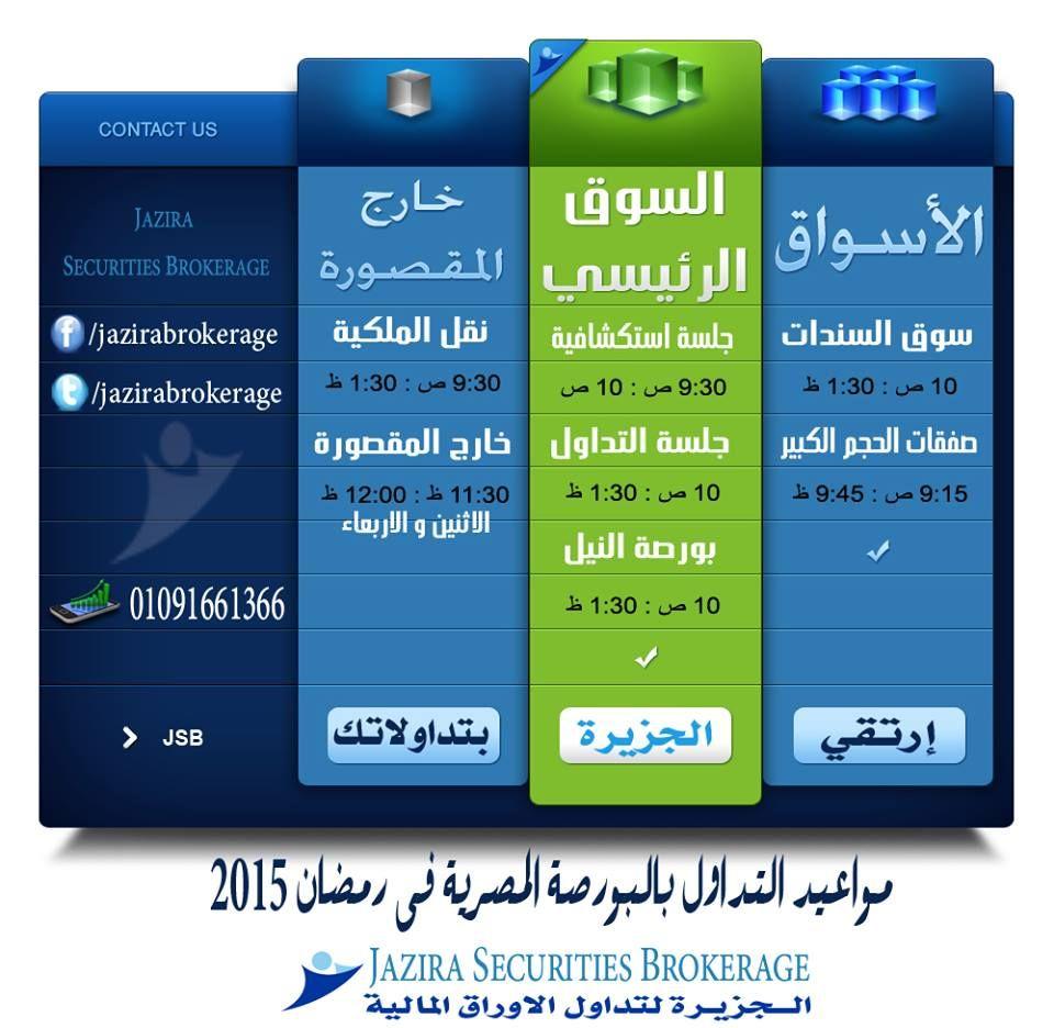تهنئ شركة الجزيرة_كابيتال .مصر جميع عملائها وماتبعيها
