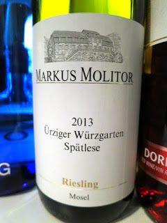 Markus Molitor Urziger Wurzgarten Riesling Spatlese 2013 91 Pts Gourmet Recipes Wine Wine Recipes
