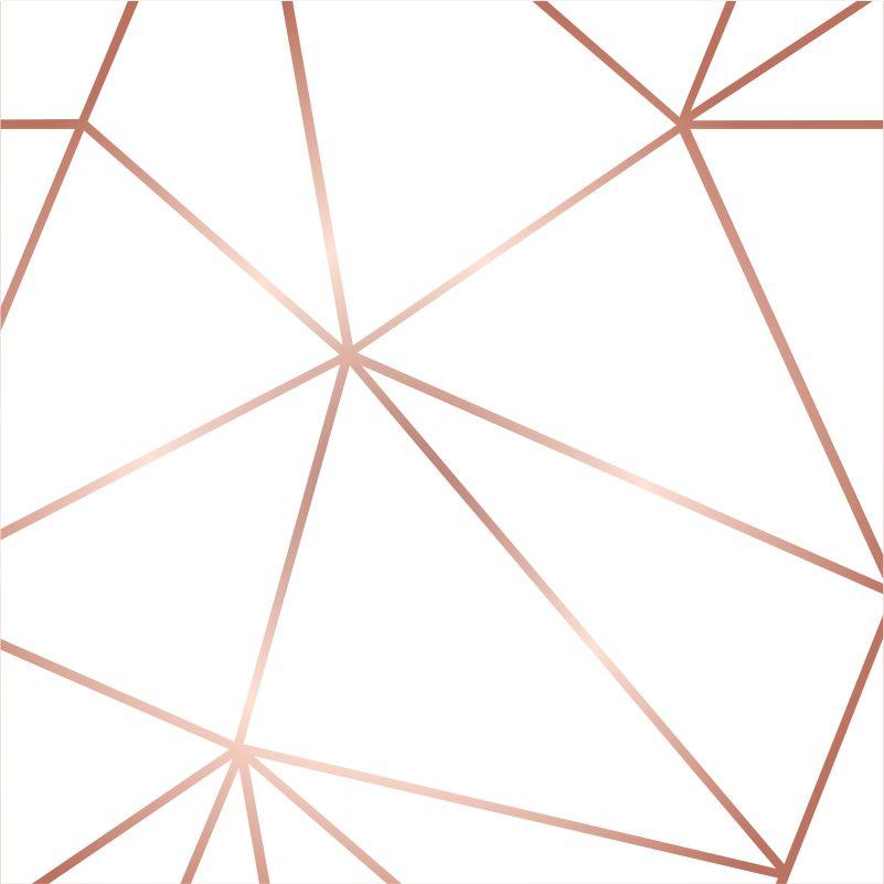 Papel de Parede Zara Branco com Rosê Gold - Inove