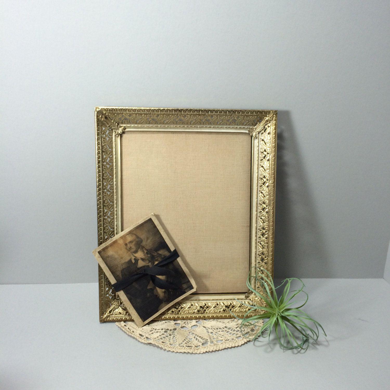 Gold Metal Filigree Picture Frame Ornate Picture Frame Photo Frame