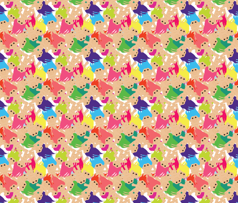 Troll Doll Toss fabric by the_british_eccentric_studio on Spoonflower - custom fabric