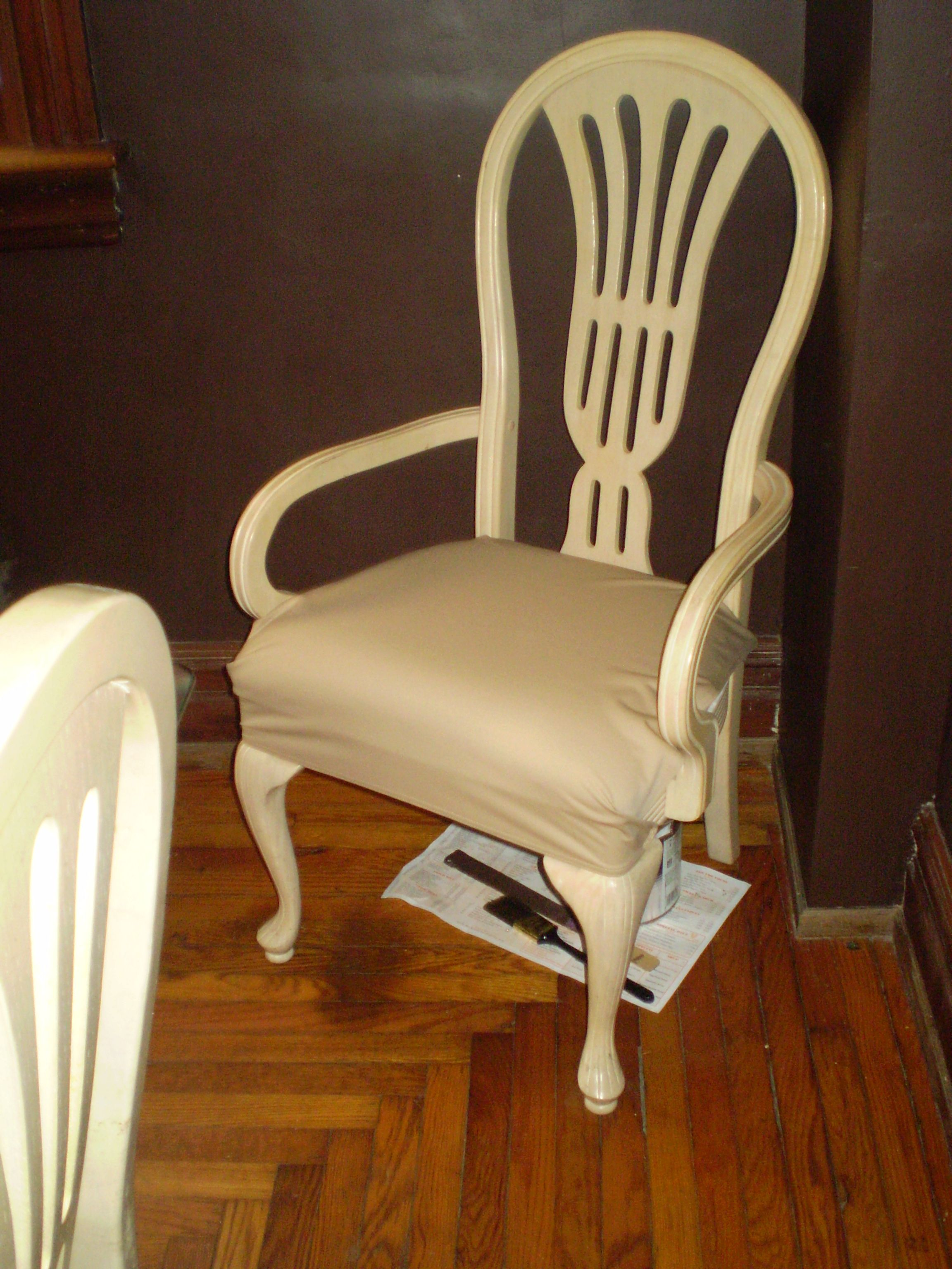 Customer photo of the SmartSeat on an upholstered chair.
