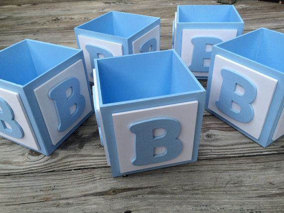 abc baby block centerpiece block baby boy by tbqboutique on etsy, Baby shower invitation