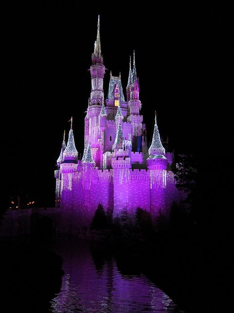 Disney World Cinderella Castle at night