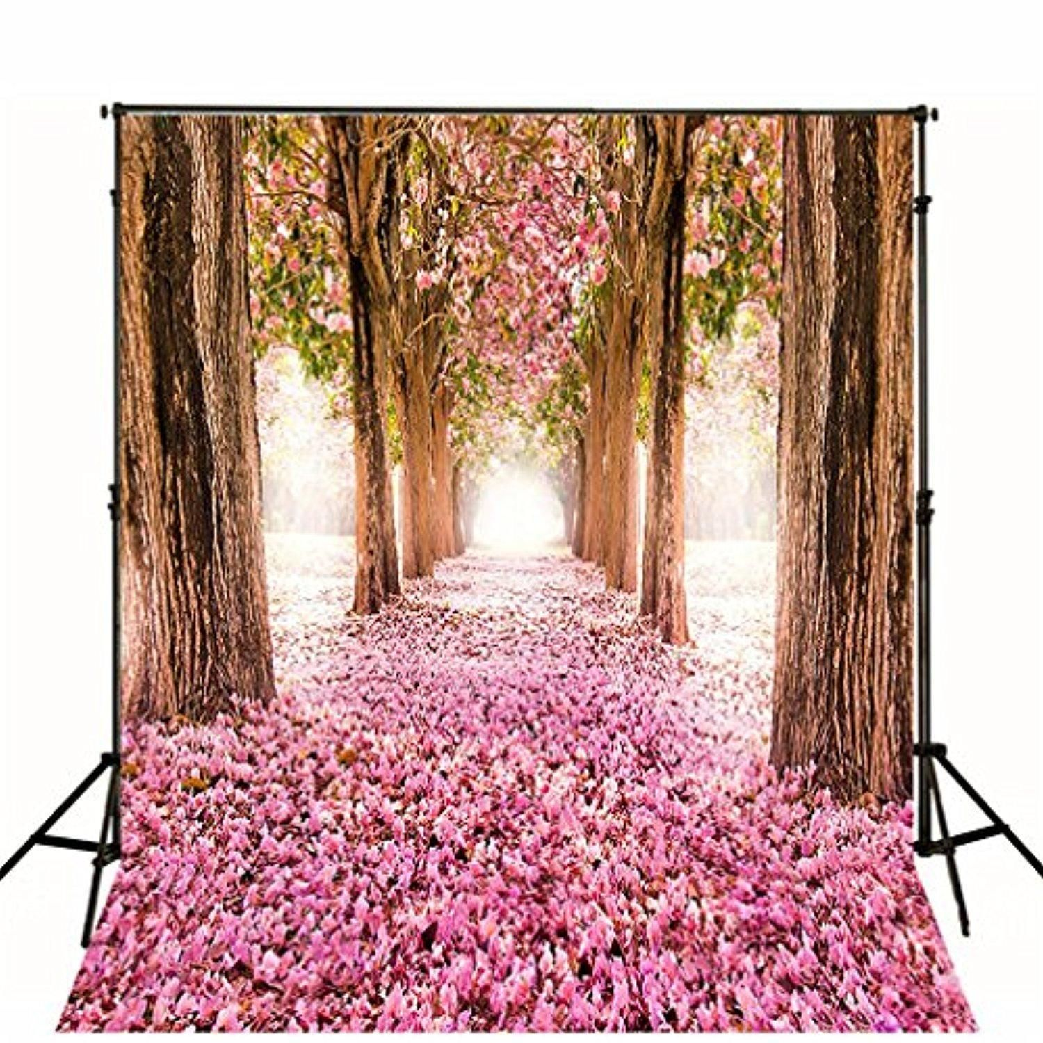 10x10 Backdrops For Photography Nature Spring Pink Flowers Wood Tree Scenic Vin Pink Flowers Photography Wedding Photo Booth Props Beautiful Photography Nature